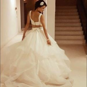 NWT David's Bridal two piece wedding gown